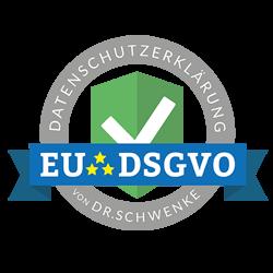 Datenschutzerklärung EU DSGVO Siegel Dr. Schwenke